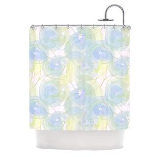 KESS InHouse Alison Coxon Blue Paper Flower Shower Curtain (69x70)