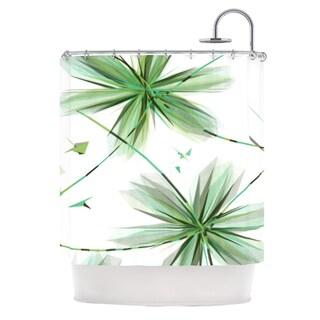 KESS InHouse Alison Coxon Flower Teal Shower Curtain (69x70)