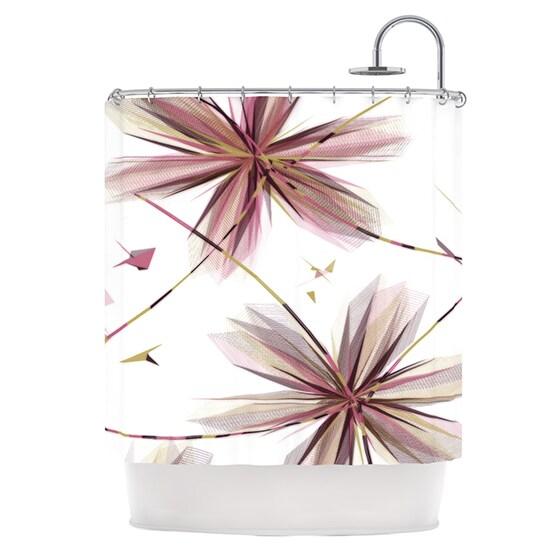 KESS InHouse Alison Coxon Flower Aubergine Shower Curtain (69x70)