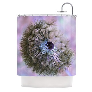 KESS InHouse Alison Coxon Dandelion Clock Shower Curtain (69x70)