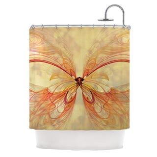 KESS InHouse Alison Coxon Papillon Shower Curtain (69x70)