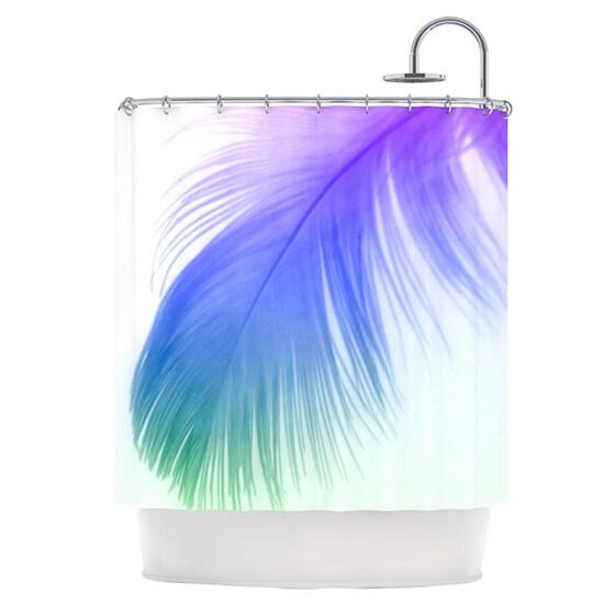 KESS InHouse Alison Coxon Feather Colour Shower Curtain (69x70)