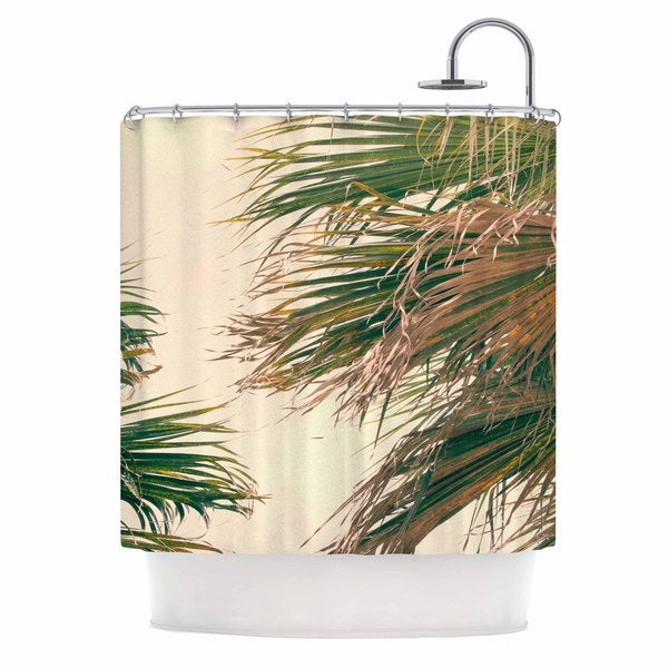KESS InHouse Ann Barnes Summer Lovin' Green Pink Shower Curtain (69x70)