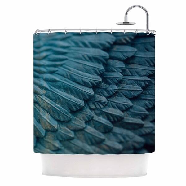 KESS InHouse Ann Barnes Ombre Angel Blue Celestial Shower Curtain (69x70)