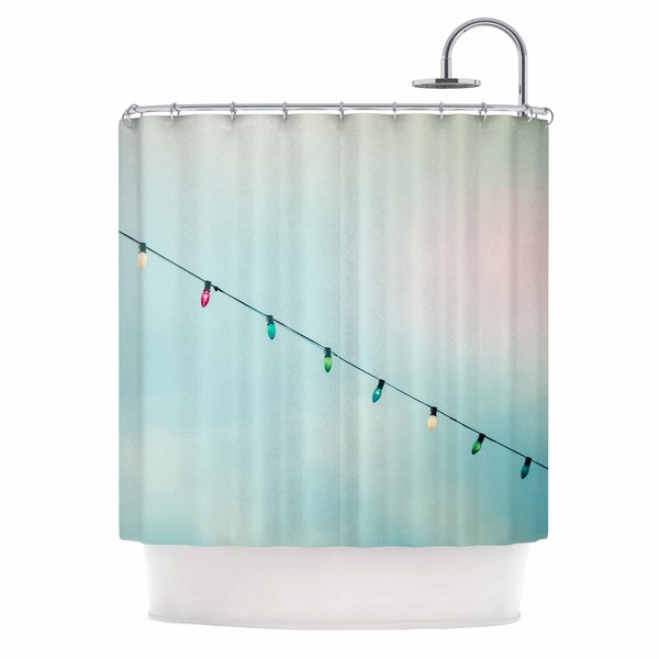 KESS InHouse Ann Barnes Dream A Little Dream Blue Vintage Shower Curtain (69x70)