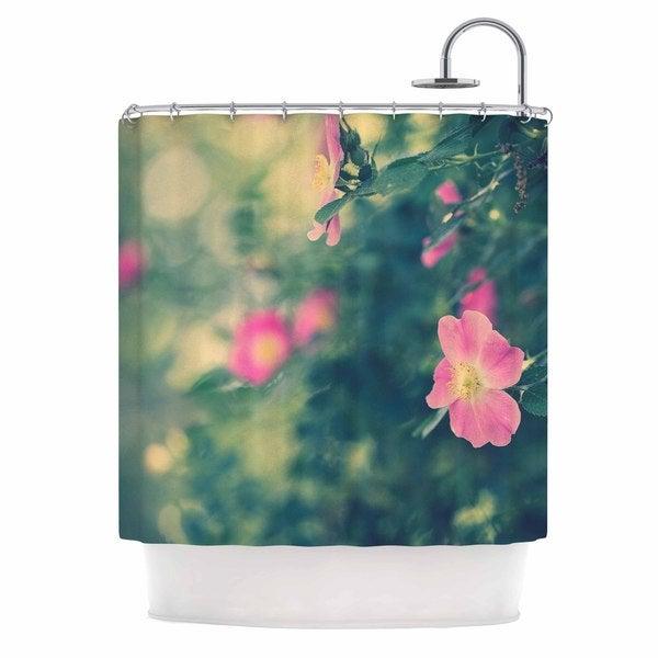 KESS InHouse Ann Barnes Central Park Roses Pink Nature Shower Curtain (69x70)