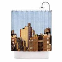 KESS InHouse Ann Barnes Vintage NYC Cityscape Shower Curtain (69x70)
