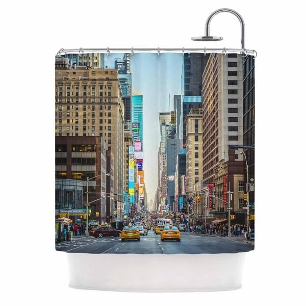 KESS InHouse Ann Barnes Sunset Over 7th Urban Photography Shower Curtain (69x70)