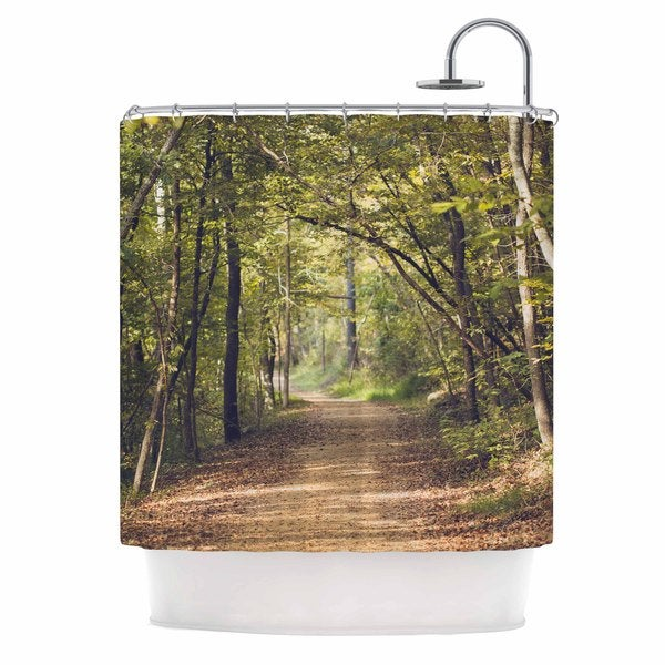 KESS InHouse Ann Barnes Forest Light Nature Photography Shower Curtain (69x70)