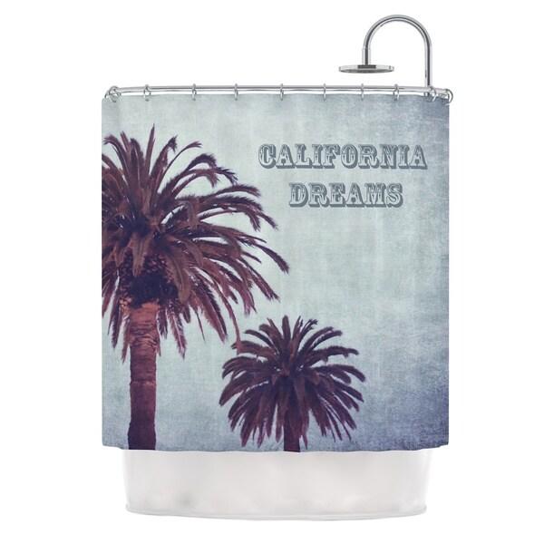 KESS InHouse Ann Barnes California Dreams Blue Brown Shower Curtain (69x70)