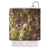 KESS InHouse Ann Barnes Lush Green Pink Shower Curtain (69x70)