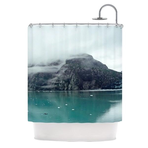KESS InHouse Ann Barnes Into the Mist Teal Shower Curtain (69x70)