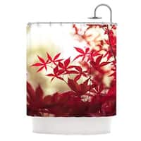KESS InHouse Ann Barnes September Afternoon Red Leaves Shower Curtain (69x70)