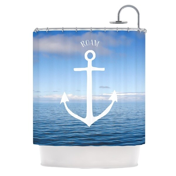 KESS InHouse Ann Barnes Roam III Anchor Shower Curtain (69x70)