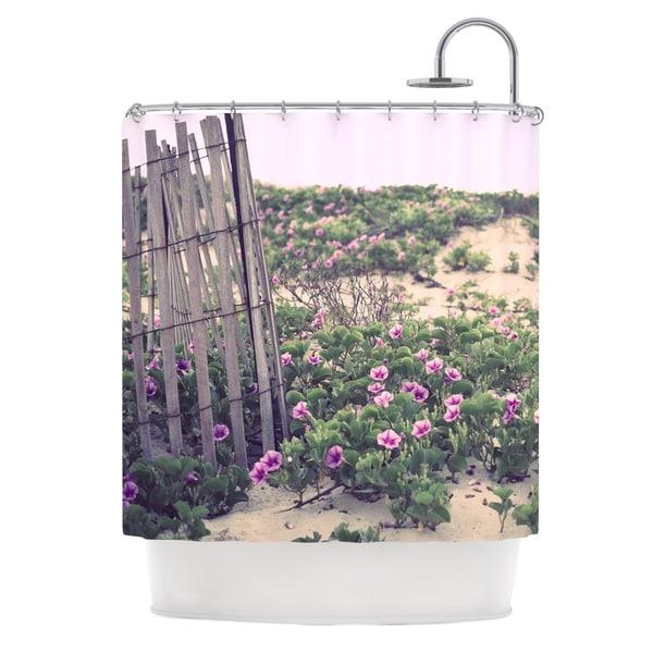 KESS InHouse Ann Barnes Morning at the Beach Flowers Shower Curtain (69x70)