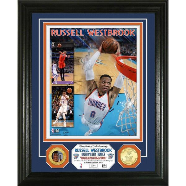 "Russell Westbrook ""2017 Triple Double Season"" Bronze Coin Photo Mint"