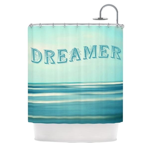 KESS InHouse Ann Barnes Dreamer Blue Teal Shower Curtain (69x70)