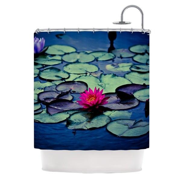 KESS InHouse Ann Barnes Twilight Water Lily Shower Curtain 69x70