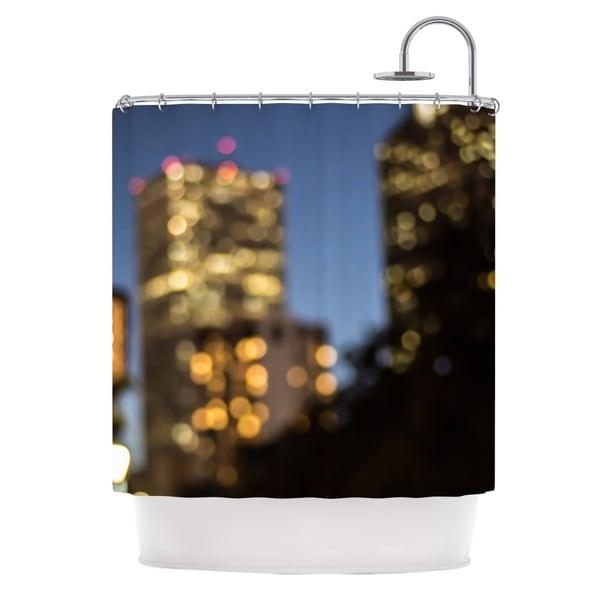 KESS InHouse Ann Barnes NOLA at Night City Lights Shower Curtain (69x70)