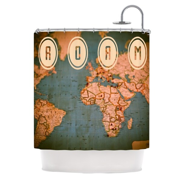 KESS InHouse Ann Barnes Roam II World Map Shower Curtain (69x70)