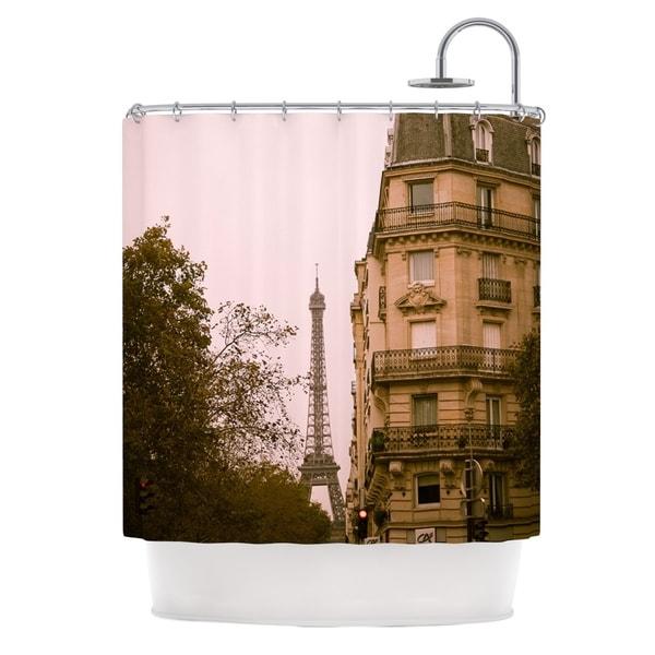 KESS InHouse Ann Barnes Lady Beckons Blush Tan Shower Curtain (69x70)
