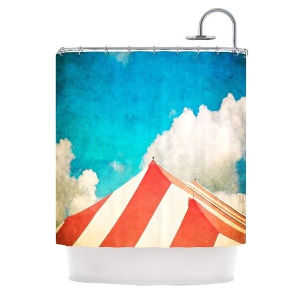 KESS InHouse Ann Barnes The Big Top Red Blue Shower Curtain (69x70)