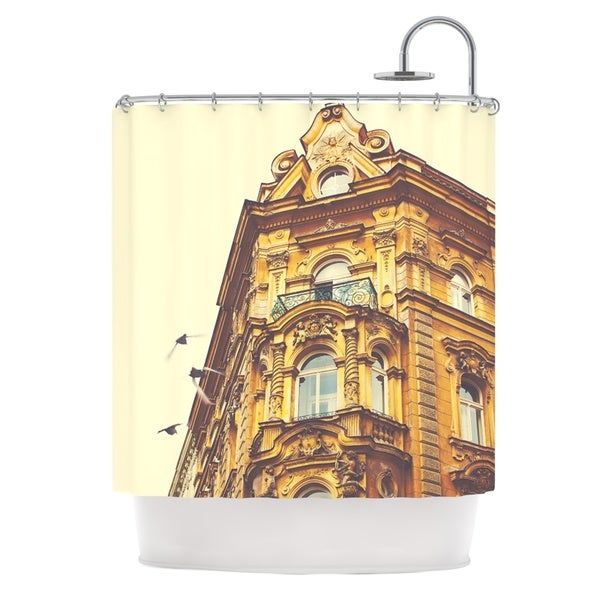 KESS InHouse Ann Barnes Prague Morning Gold Building Shower Curtain (69x70)