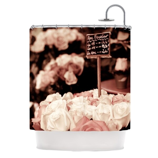 KESS InHouse Ann Barnes Paris Flower Market Shower Curtain (69x70)