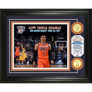Russell Westbrook NBA Triple Double Record Bronze Coin Photo Mint|https://ak1.ostkcdn.com/images/products/15096310/P21584110.jpg?impolicy=medium