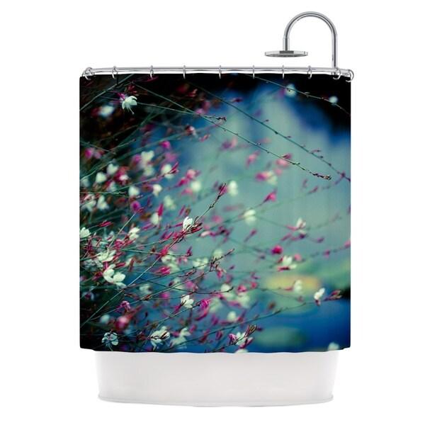 KESS InHouse Ann Barnes Monet's Dream Dark Flower Shower Curtain (69x70)