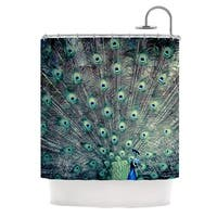 KESS InHouse Ann Barnes Majestic Peacock Feather Shower Curtain (69x70)