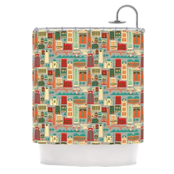 KESS InHouse Allison Beilke My Fair Milwaukee Red City Shower Curtain (69x70)