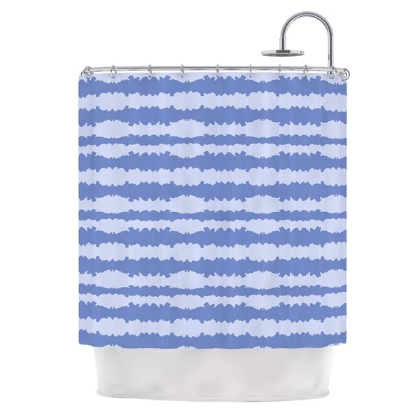KESS InHouse Mydeas Nautical Breeze - Ocean Ripple Blue Aqua Shower Curtain (69x70)