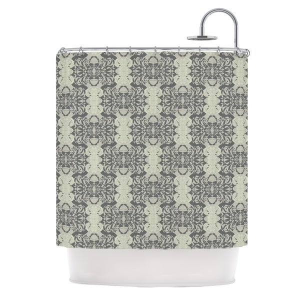 KESS InHouse Mydeas Illusion Damask Silver Gray Shower Curtain (69x70)