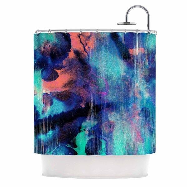 KESS InHouse Nina May Grotto Falls Blue Teal Shower Curtain (69x70)
