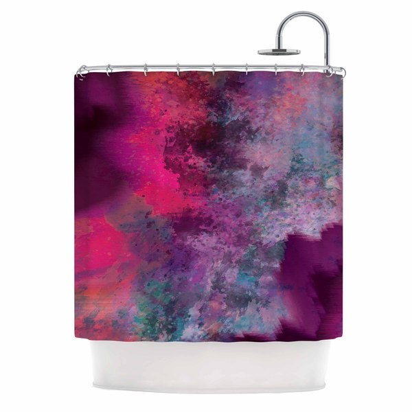 KESS InHouse Nina May Mineral Pink  Purple Watercolor Shower Curtain (69x70)