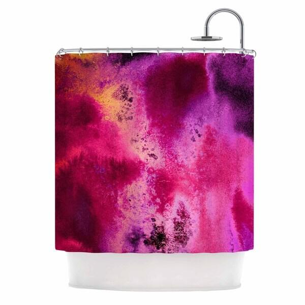 KESS InHouse Nina May Rosewater Sun Pink Purple Shower Curtain (69x70)