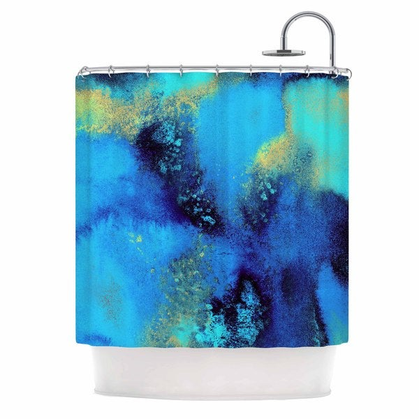 KESS InHouse Nina May Salten Sea Blue Teal Shower Curtain (69x70)
