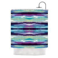 "KESS InHouse Nina May ""Artik Blue Stripe"" Blue Teal Shower Curtain (69x70) - 69 x 70"
