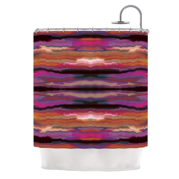 KESS InHouse Nina May Sola Color Pink Orange Shower Curtain (69x70)