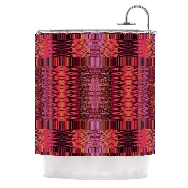 KESS InHouse Nina May Larina Nueva Spice Red Marsala Shower Curtain (69x70)