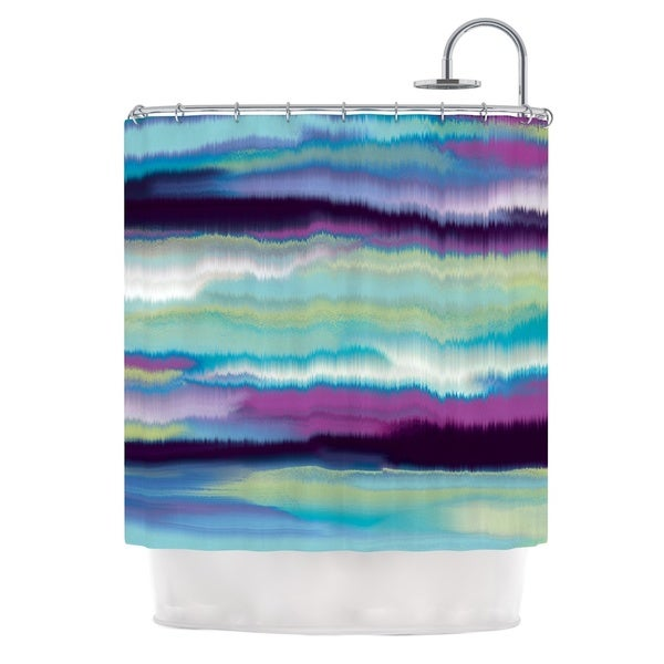 KESS InHouse Nina May Artika Blue Teal Purple Shower Curtain (69x70)
