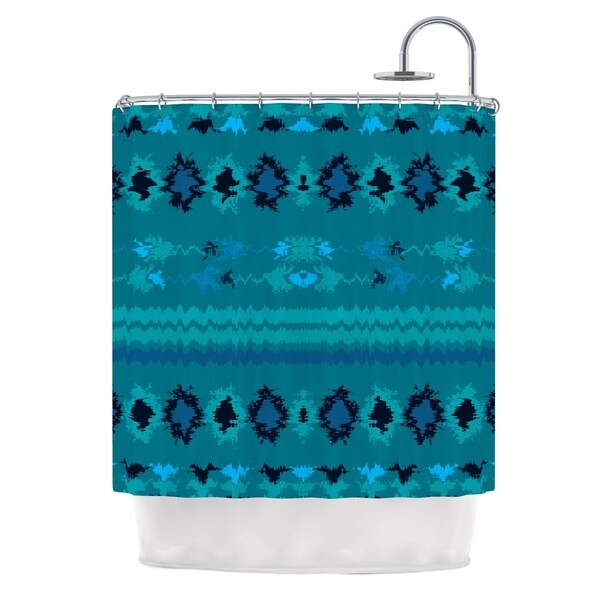 KESS InHouse Nina May Turquoise Nava Teal Tribal Shower Curtain (69x70)