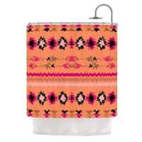 KESS InHouse Nina May Peachy Nava Orange Tribal Shower Curtain (69x70)
