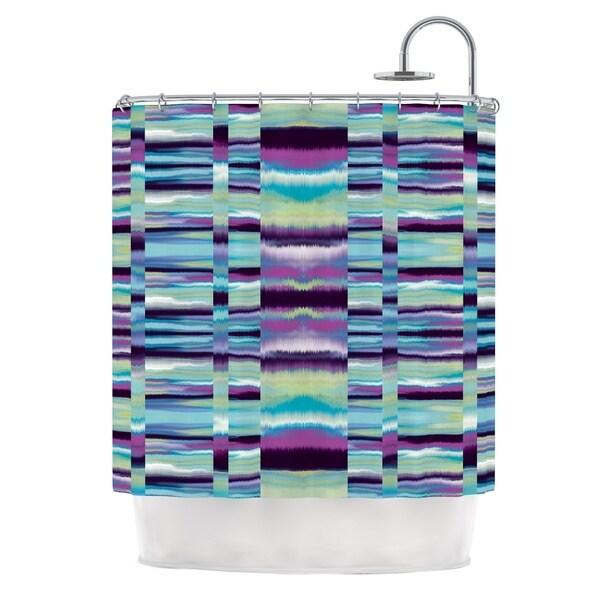 KESS InHouse Nina May Samanna Blue Tribal Shower Curtain (69x70)