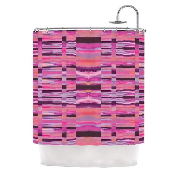 KESS InHouse Nina May Samanna Coral Pink Tribal Shower Curtain (69x70)
