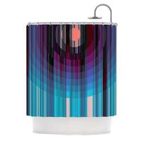KESS InHouse Nina May Nova Sun Blue Geometric Shower Curtain (69x70)