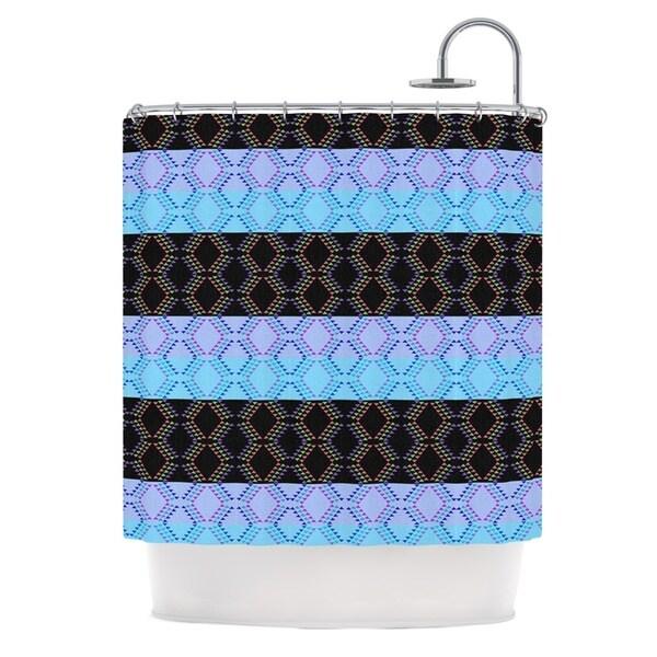KESS InHouse Nina May Denin Diamond Blue Black Shower Curtain (69x70)