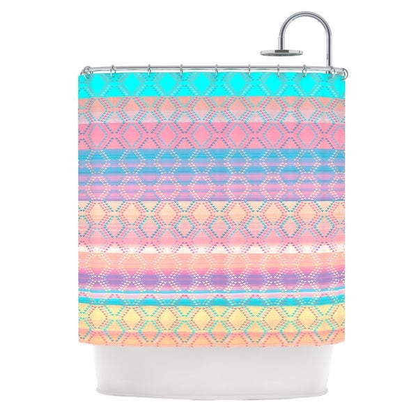 KESS InHouse Nina May Denin & Diam New Mexico Pastel Shower Curtain (69x70)