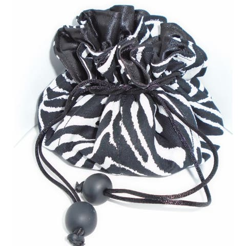 Luggage Spotter Zebra Print Travel Jewelry Pouch Bag